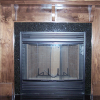 03 Wooden Fireplace